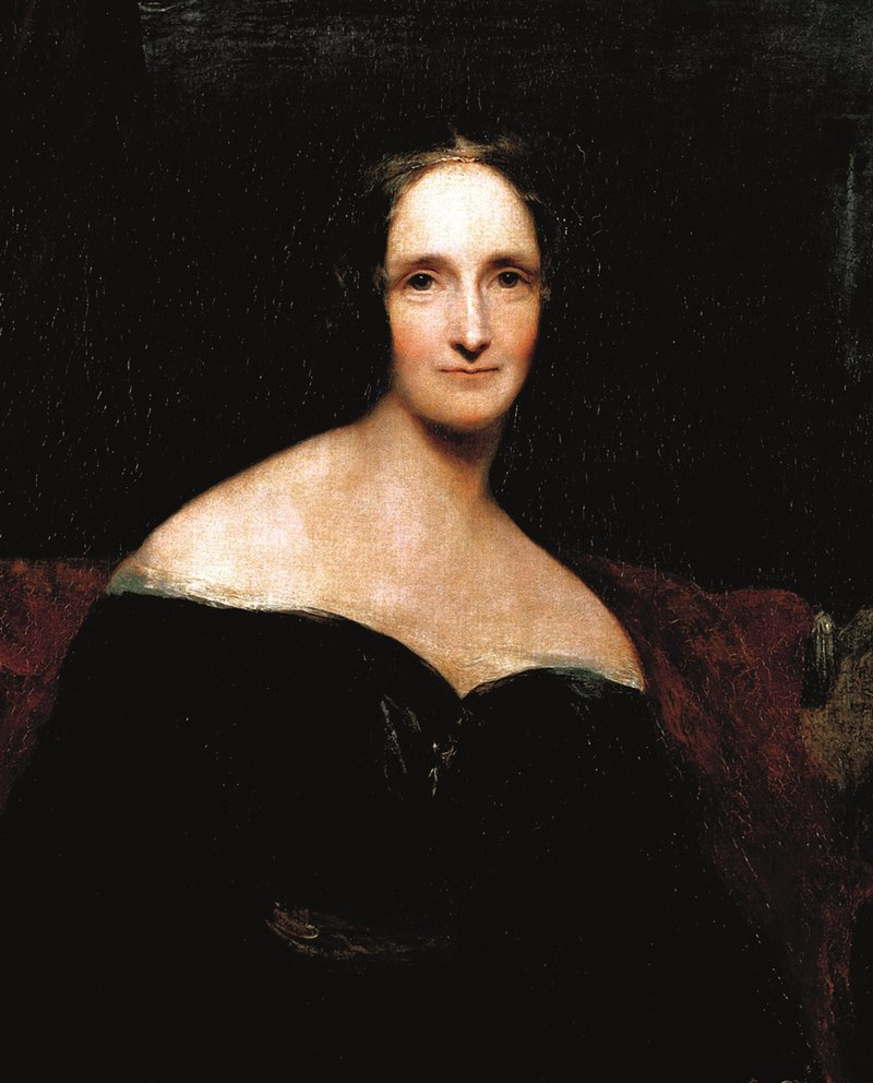 Mary Shelley, ritratto opera di R. Rothwell. 1840. National Gallery, Londra