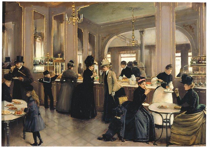 Frequentare una delle pasticcerie che negli anni della Belle Époque vennero aperte a Parigi, come la Gloppe nell'avenue des Champs-Élysées, era uno dei passatempi più comuni