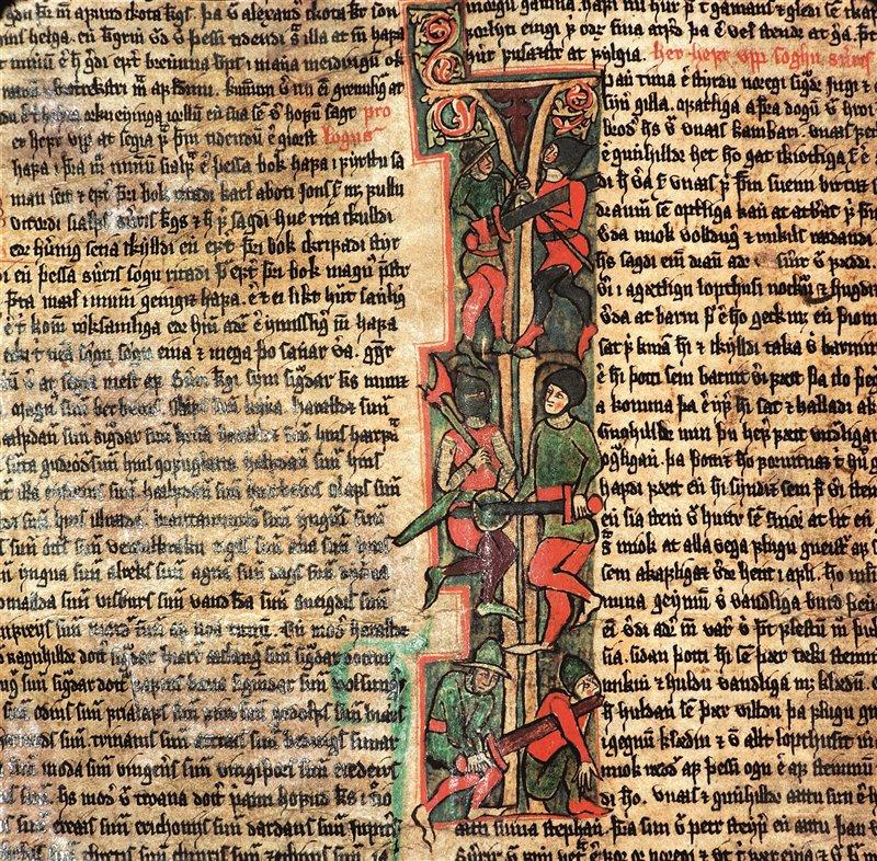 Flatey Jarbok, redatto in Islanda intorno al 1390, racconta le saghe degli antichi norreni