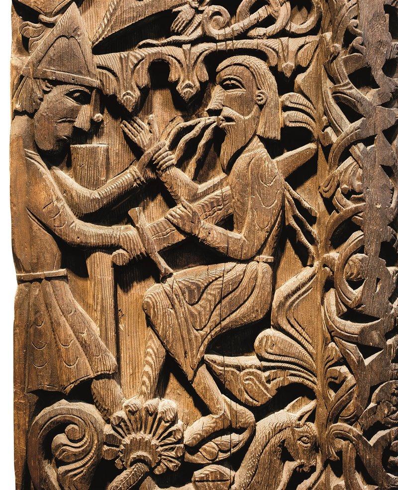 Sulla porta della chiesa di Hylestad, in Norvegia, furono incisi episodi della vita dell'eroe Sigurd, che Snorri Sturluson raccontò nell'Edda in prosa