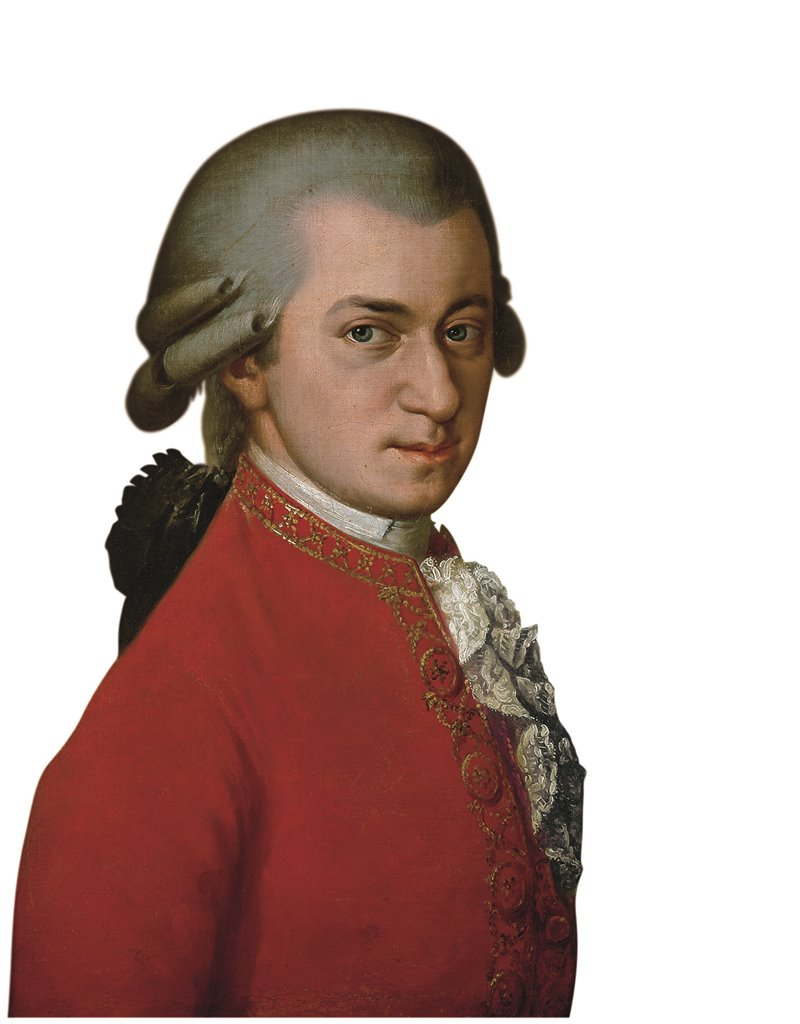 Ritratto di Wolfgang Amadeus Mozart dipinto nel 1819