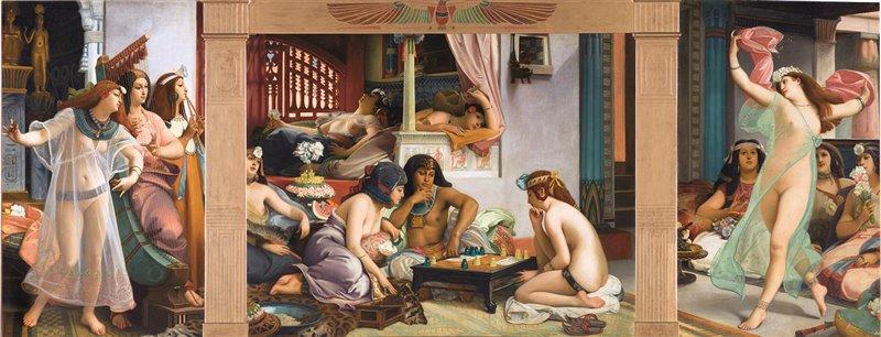 In quest'olio Jean-Jules-Antoine Lecomte du Noüy rappresenta Ramses nel suo harem