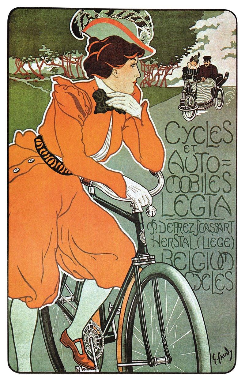 Annuncio di un fabbricante di biciclette belga