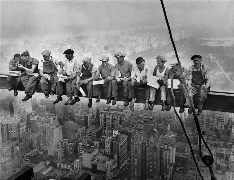 Pranzo in cima ad un grattacielo, Charles C. Ebbets