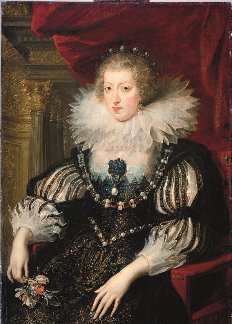 Anna d'Austria raffigurata in un ritratto di Rubens