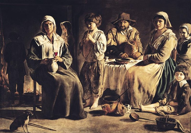 L'aumento delle tasse durante il governo di Richelieu mise in ginocchio migliaia di famiglie contadine. Olio di Le Nain
