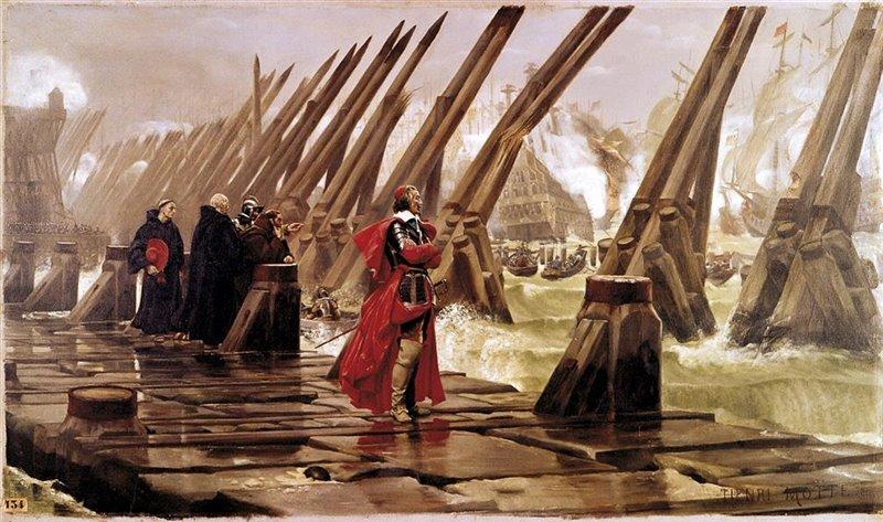 Richelieu ritratto durante l'assedio di La Rochelle