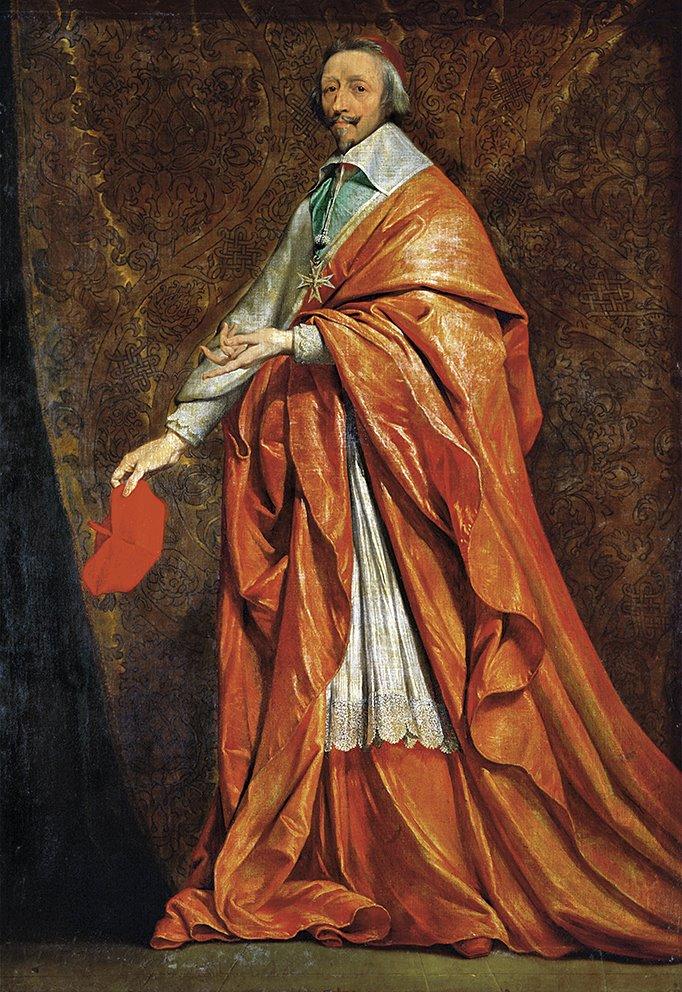 Ritratto del cardinale Richelieu opera di Philippe de Champaigne. Museo del Louvre, Parigi
