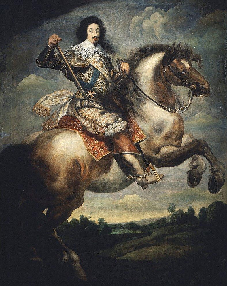 Ritratto di Luigi XIII. Claude Deruet. Versailles