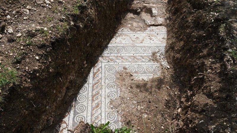 Pavimento a mosaico scoperto a Negrar, in Valpolicella