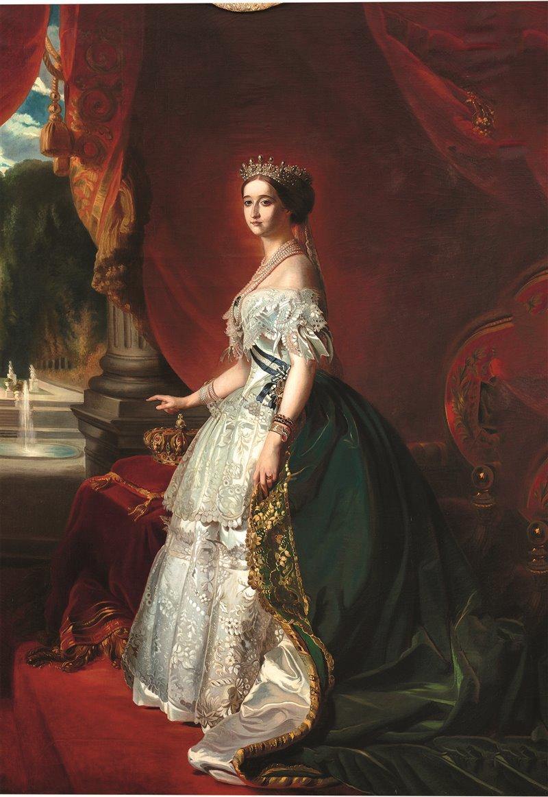 L'imperatrice Eugenia de Montijo. Ritratto di Franz Xavier Winterhalter. Palazzo comunale, Ajaccio