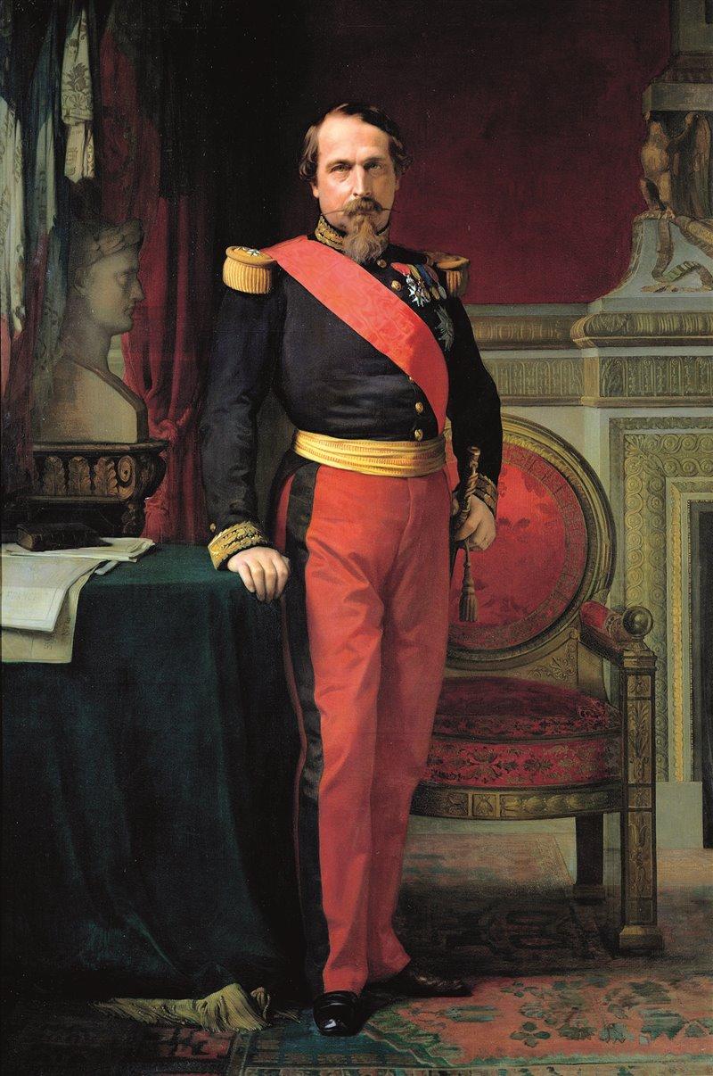 Napoleone III. Ritratto di Hyppolite Flandrin. 1862. Versailles