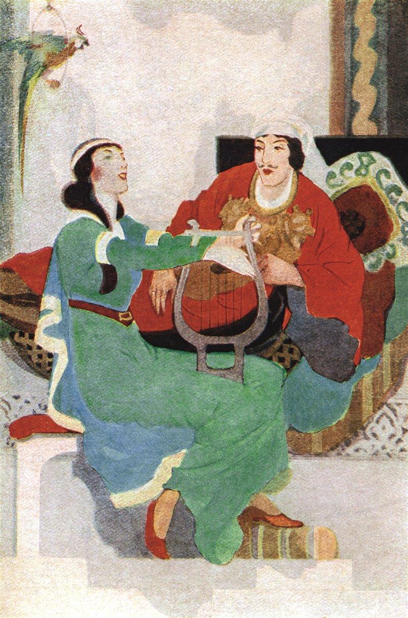 Illustrazione di Mccannell per 'I Racconti dell'Alhambra'. 1920
