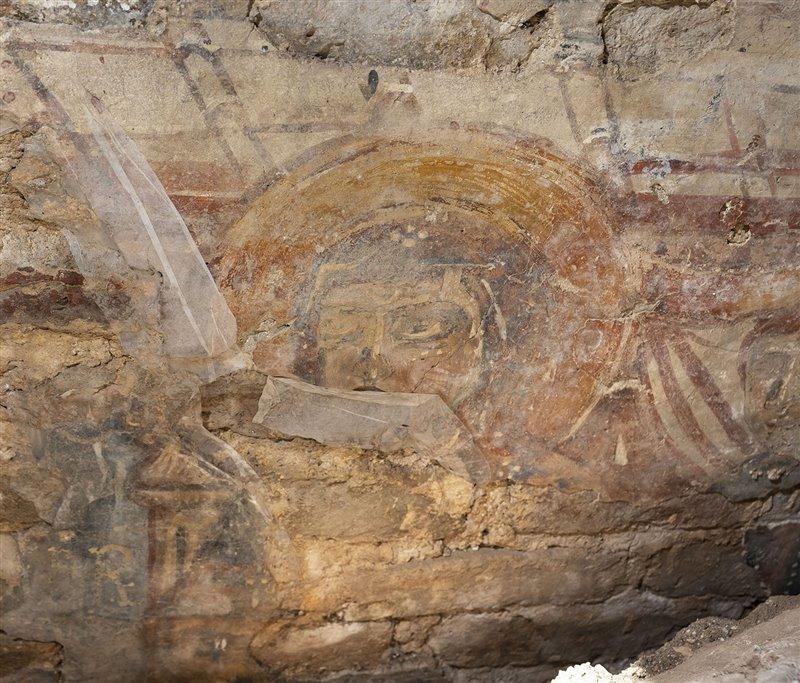 Dettaglio degli affreschi del IX - X secolo rinvenuti nella Basilica di Santa Maria Assunta, a Torcello