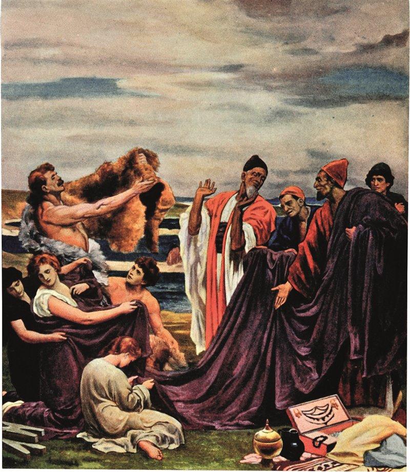 Mercanti fenici in Britannia tra i secoli IV-II a.C. Incisione da 'Hurchinson's History of the Nation'. 1939