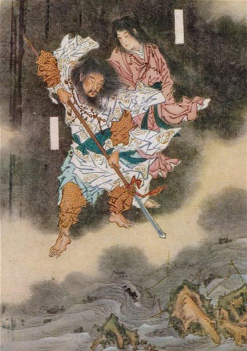 Gli dei Izanagi e Izanami creano il Giappone