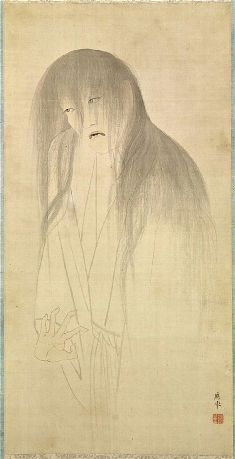Rappresentazione di un fantasma. Disegno della seconda metà del XVIII secolo
