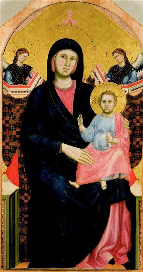 """Sebbene sia difficile stabilire la paternità dei primi dipinti di Giotto, la """"Madonna di San Giorgio alla Costa"""" del 1295 è considerata la prima opera attribuibile al pittore. Museo dell'Opera del Duomo, Firenze"""