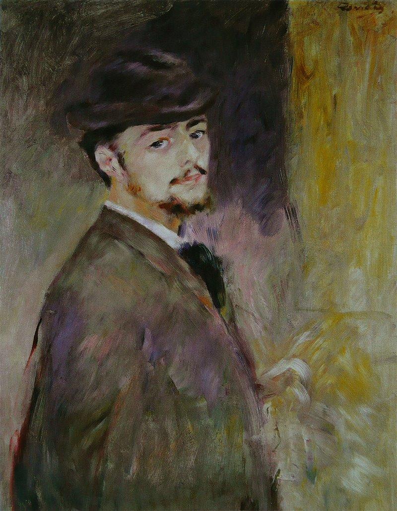 Autoritratto di Pierre Auguste Renoir. 1876