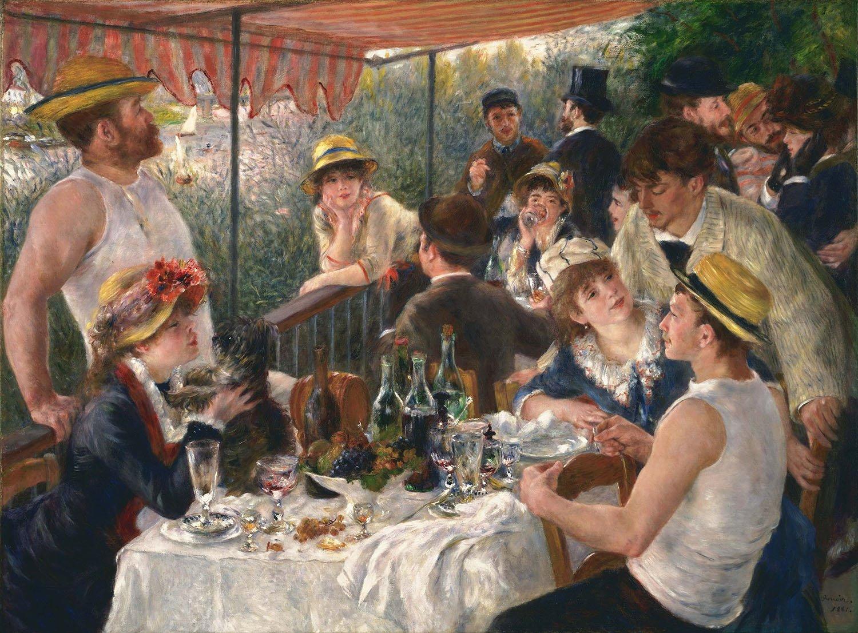 Colazione dei canottieri, 1881, Parigi, Museo d'Orsay