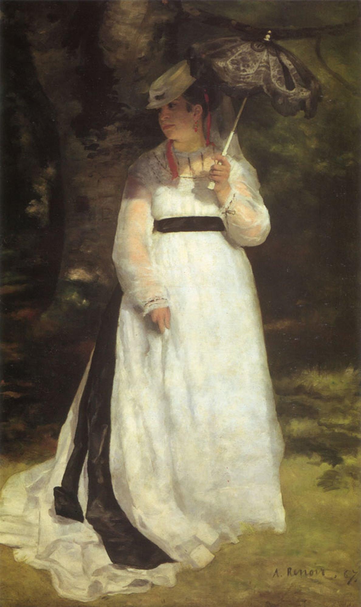 Lisa con ombrello, 1867, Essen, Folkwang Museum