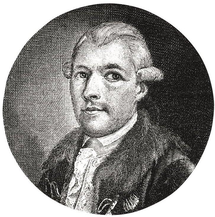 Adam Weishaupt, fondatore degli Illuminati. Xilogradia del XIX secolo