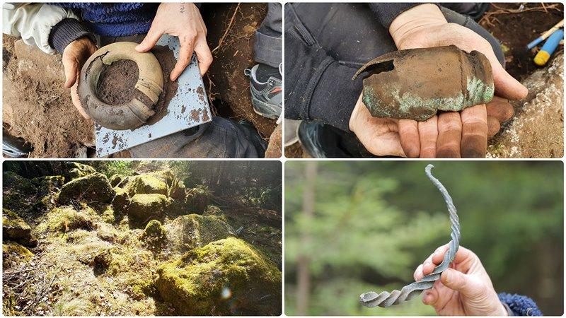I reperti rinvenuti nei boschi della Svezia nei giorni scorsi