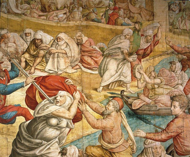 'Carlo V contro Barbarossa'. Disegno per arazzo. Jan Cornelisz. Kunsthistorisches Museum, Vienna