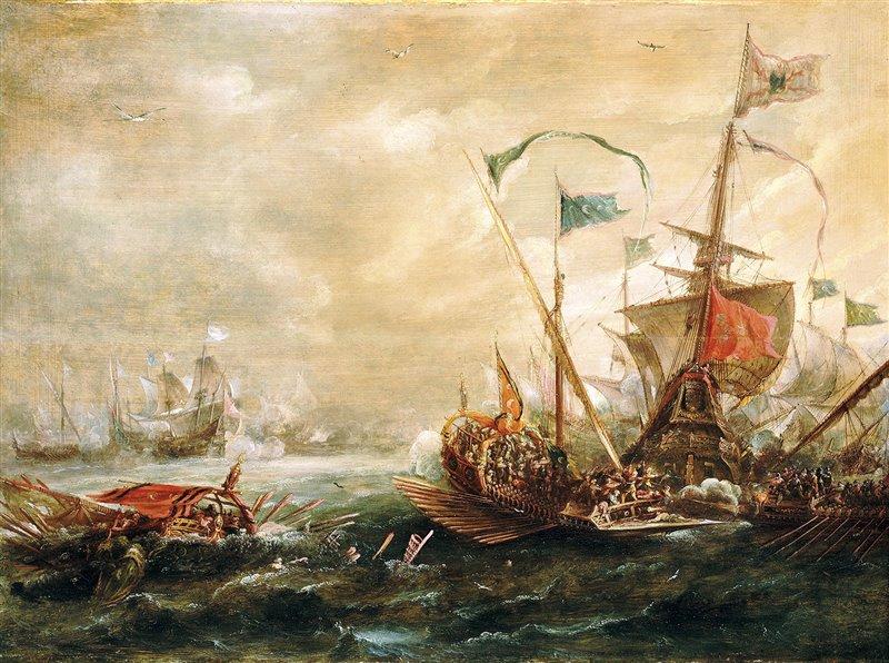 «È terribile vedere con quale furore attaccano un vascello», scriveva un autore del XVII secolo sugli abbordaggi come quello raffigurato in questo dipinto di Andries Van Eertvelt