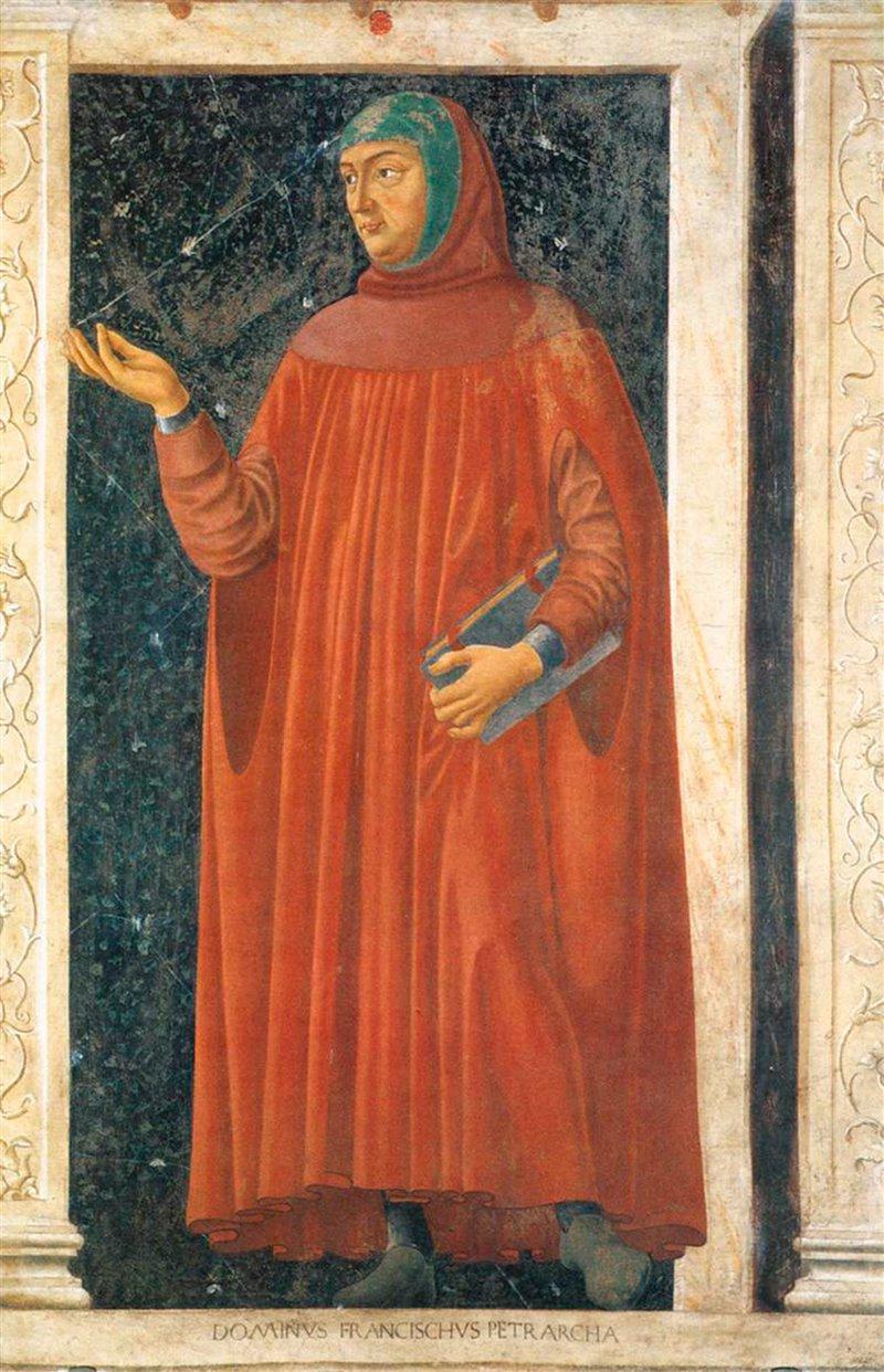 Francesco Petrarca. Affresco di Andrea del Castagno. XV secolo