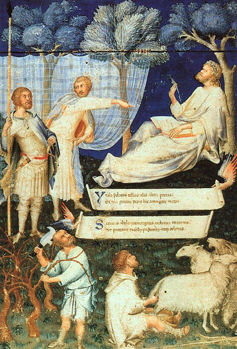 'Virgilio ambrosiano' di Petrarca miniato da Simone Martini. Pinacoteca Ambrosiana di Milano