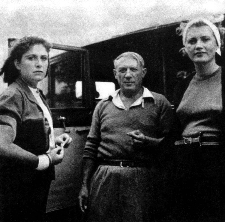 Foto Dora Maar, Picasso e Lee Miller a Mougins, 1937