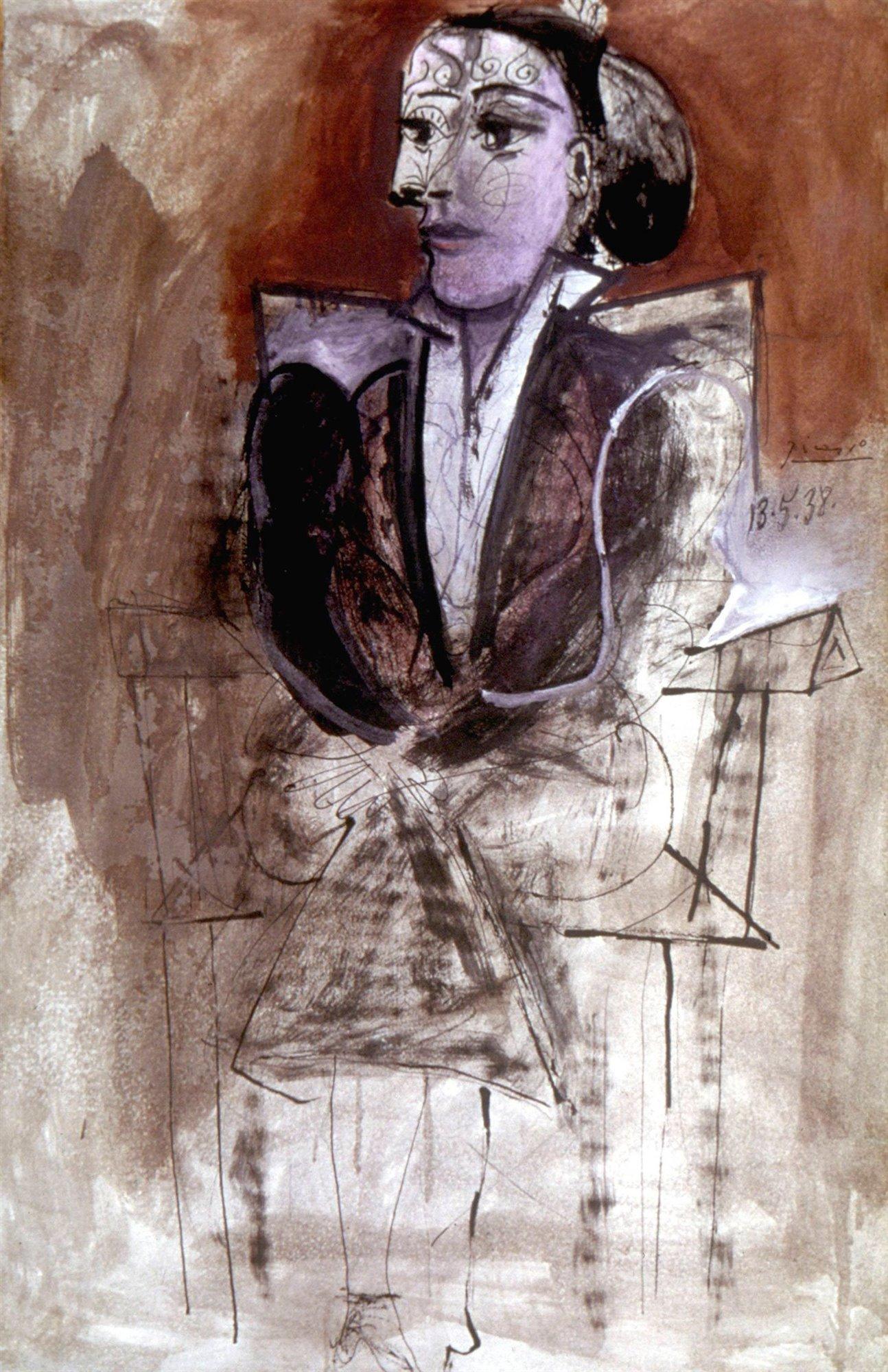 Pablo Picasso, Dora Maar seduta, 1938, The Granger Collection, New York